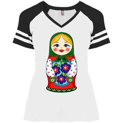 """Матрешка"" Ladies' Game Day V-Neck"