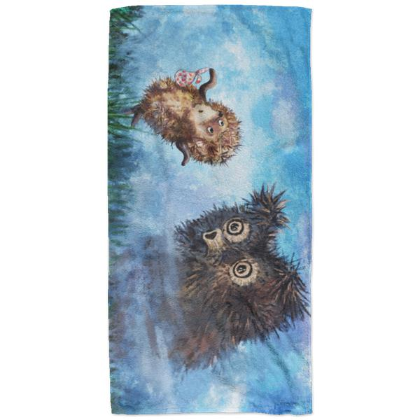 """Ёжик в тумане"" Plush Oversized Beach Towel"