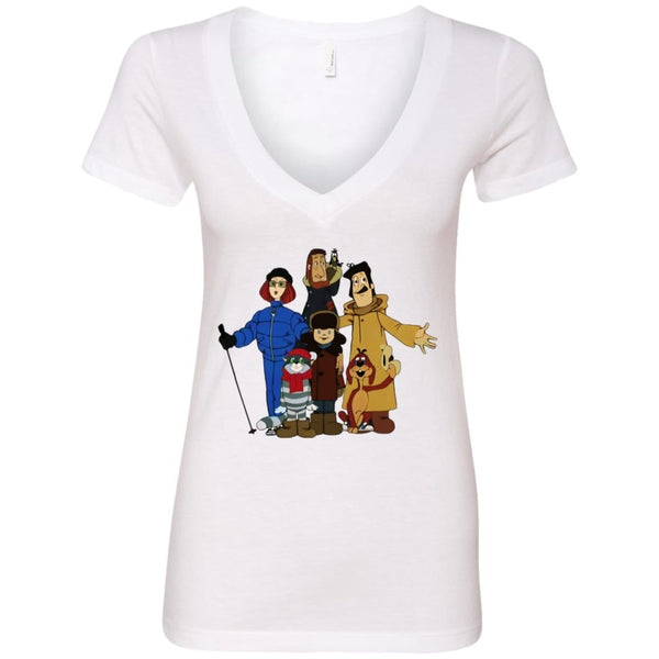 """Friends from Простоквашино"" Ladies' Deep V-Neck"