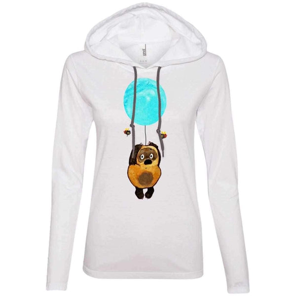 """Винни пух на шарике"" Ladies' Light Hooded Tee"
