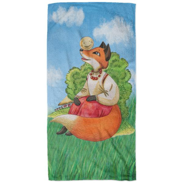 """Колобок"" Plush Oversized Beach Towel"