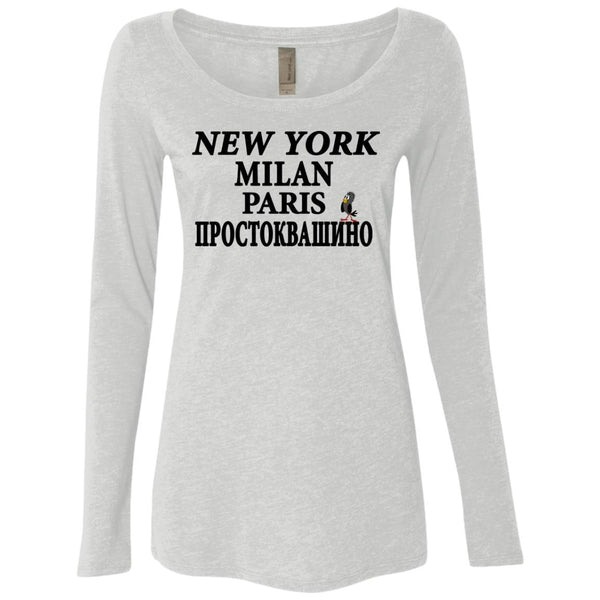 """NY Milan Paris"" Long Sleeve Scoop"