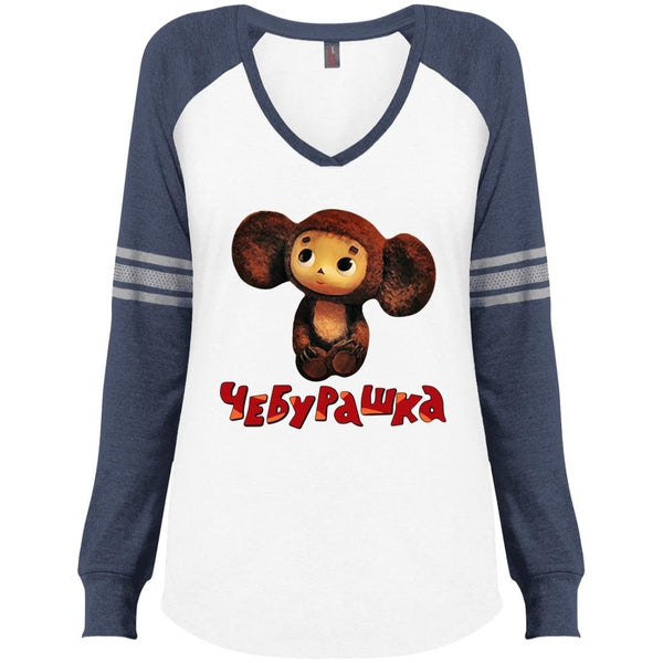"""Чебурашка"" Ladies' Game Day LS V-neck"