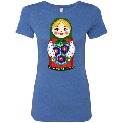 """Матрешка"" Ladies' Vintage Heather Tee"