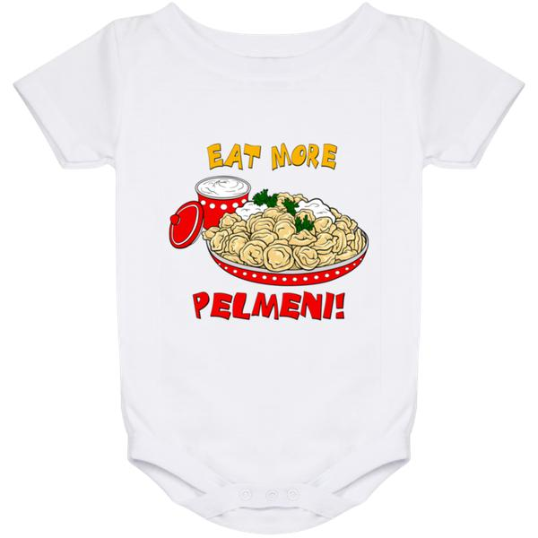 """Eat More Pelmeni!"" Everlast Baby Onesies"