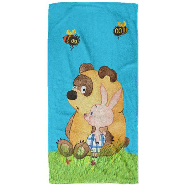 """Винни пух"" Plush Oversized Beach Towel"