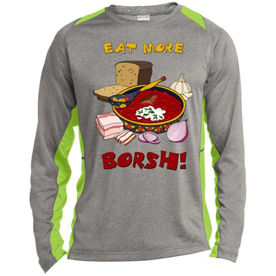 """Eat More Borsh!"" Sports Colorblock Long Sleeve"