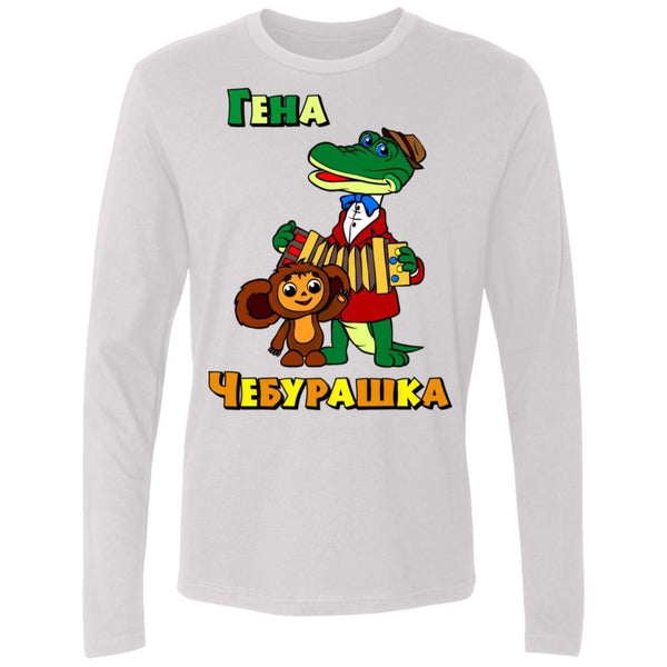 """Гена и Чебурашка"" Men's Premium Long Sleeve Crewneck"