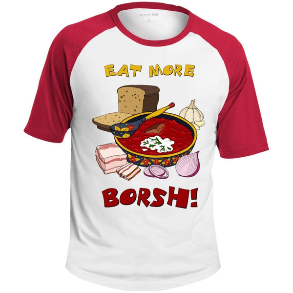 """Eat More Borsh!"" Color Sleeve Tee"