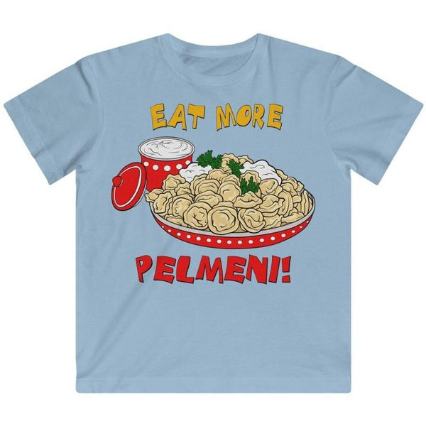"""Eat More Pelmeni!"" Kid's Fine Jersey Tee"