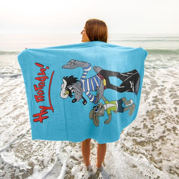 """Ну погоди"" Plush Oversized Beach Towel"