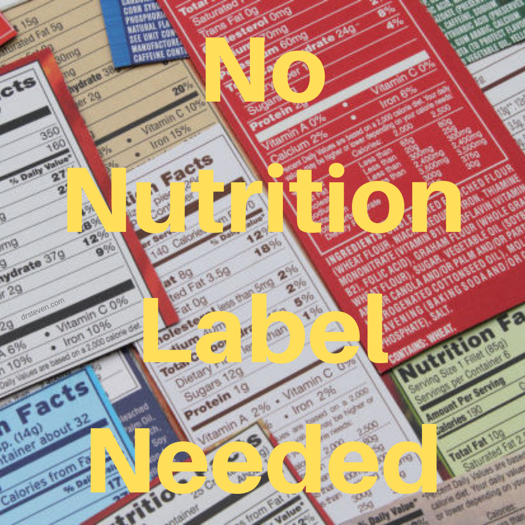 No Nutrition Label Needed