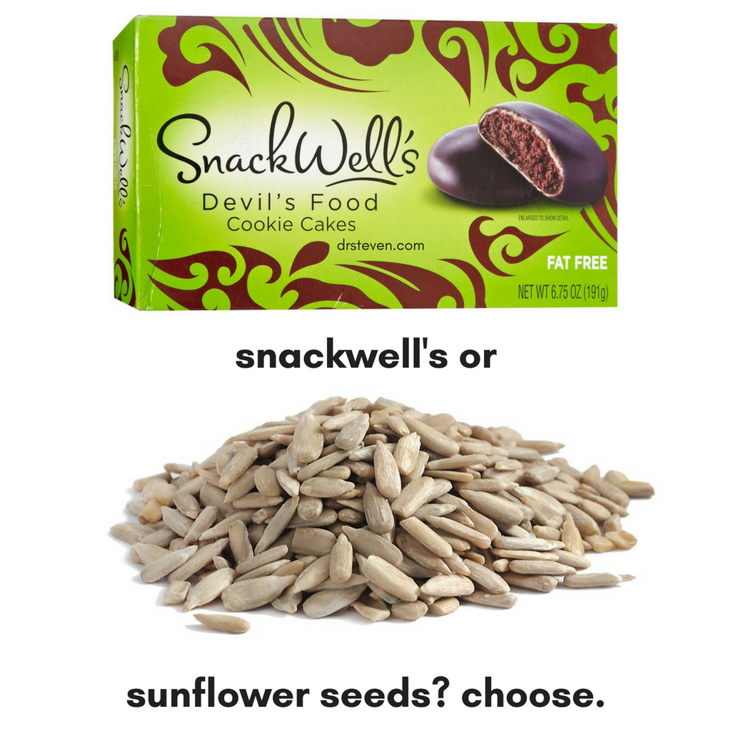 Snackwell's or Sunflower Seeds? Choose.