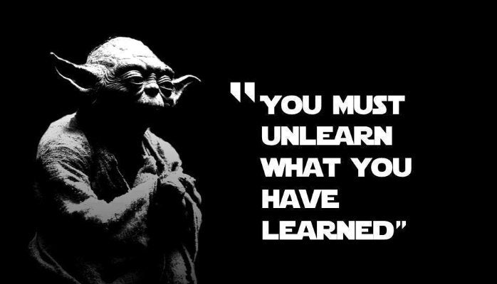 I Must Unlearn What I Have Learned