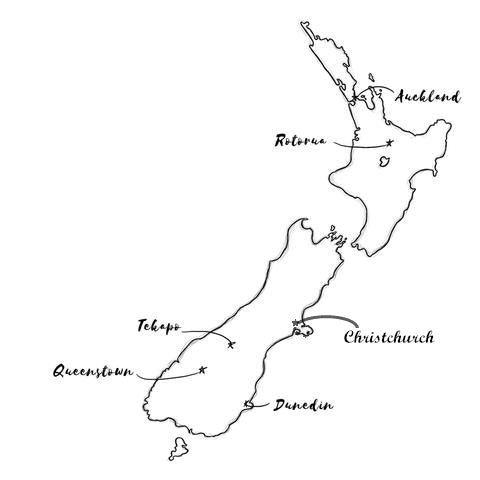 Map of our stockists in New Zealand