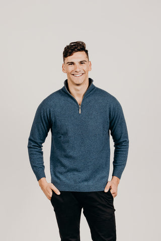 Merinosilk Classic Zip-Neck Sweater