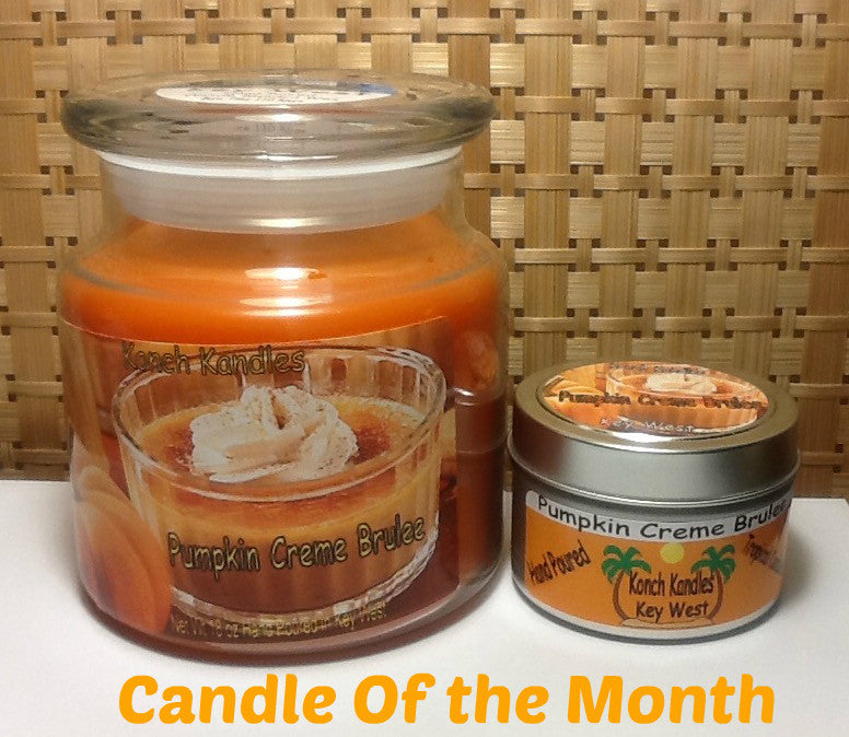 Pumpkin Creme  Brulee Candles
