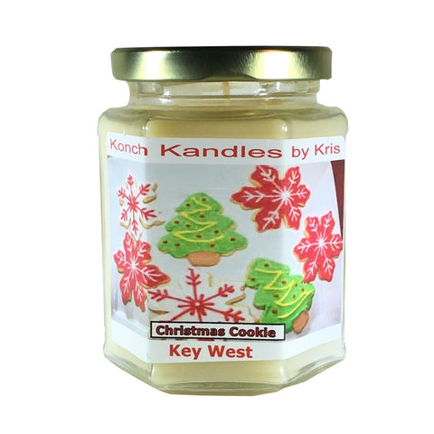 Christmas Candles 12oz Hex Jar