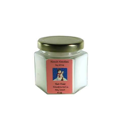 Christmas Candle 4 oz Hex Jar