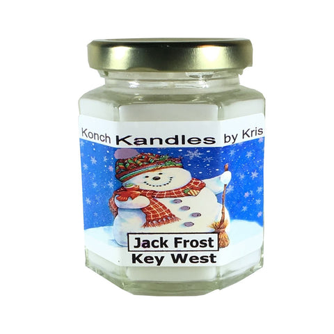 Christmas Candles 6oz Hex Jar