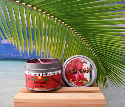 Island Hibiscus Travel Candle
