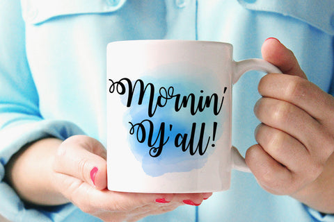 Country Mom Mug - Mornin Y'all Statement Mug Coffee Mug - Coffee Humor Mug - Morning Yall Ceramic Mug - Unique Coffee Mug Coffee Lover Gift