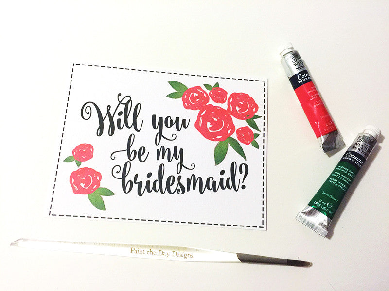 Poppy Bridesmaid Card