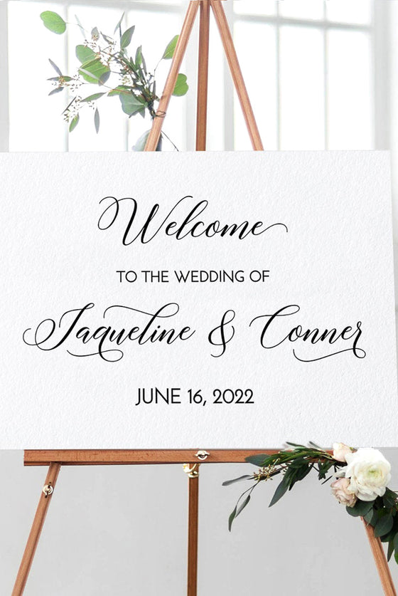 Wedding Welcome Sign, Printable Wedding Sign Template, Engagement Sign Bridal Shower, Wedding Template, Edit COLOR - TEXT Online in Templett