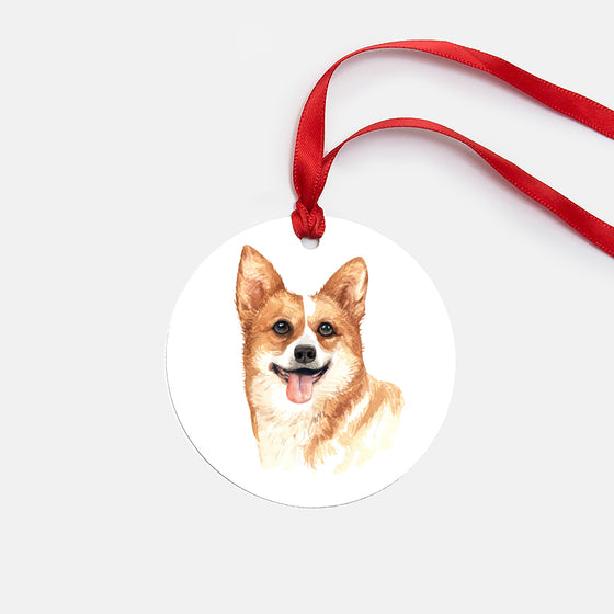 Welsh Corgi Ornament (Round)