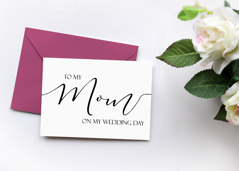 To My Mom On My Wedding Day Card, Wedding Thank You Card, Mom Stepmother Card, Mother of the Bride Gift Card, Mother of the Groom Gift
