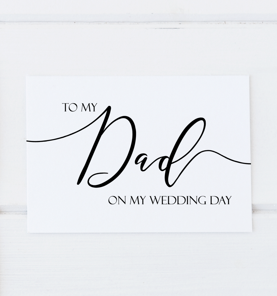 To My Dad On My Wedding Day Card, Wedding Thank You Card, Daddy Card, Father of the Bride Gift Card, Father of the Groom Gift Card, Stepdad