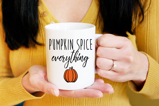 Pumpkin Spice Everything Mug, Fall Mug Halloween Coffee Mug Autumn Mug, Pumpkin Mug, Fall Coffee Mug Gift, Halloween Mug, Pumpkin Spice Mug