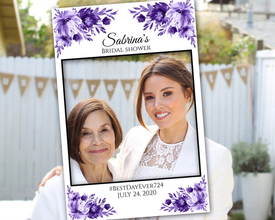 Lavish Blooms Photo Prop Frame Template