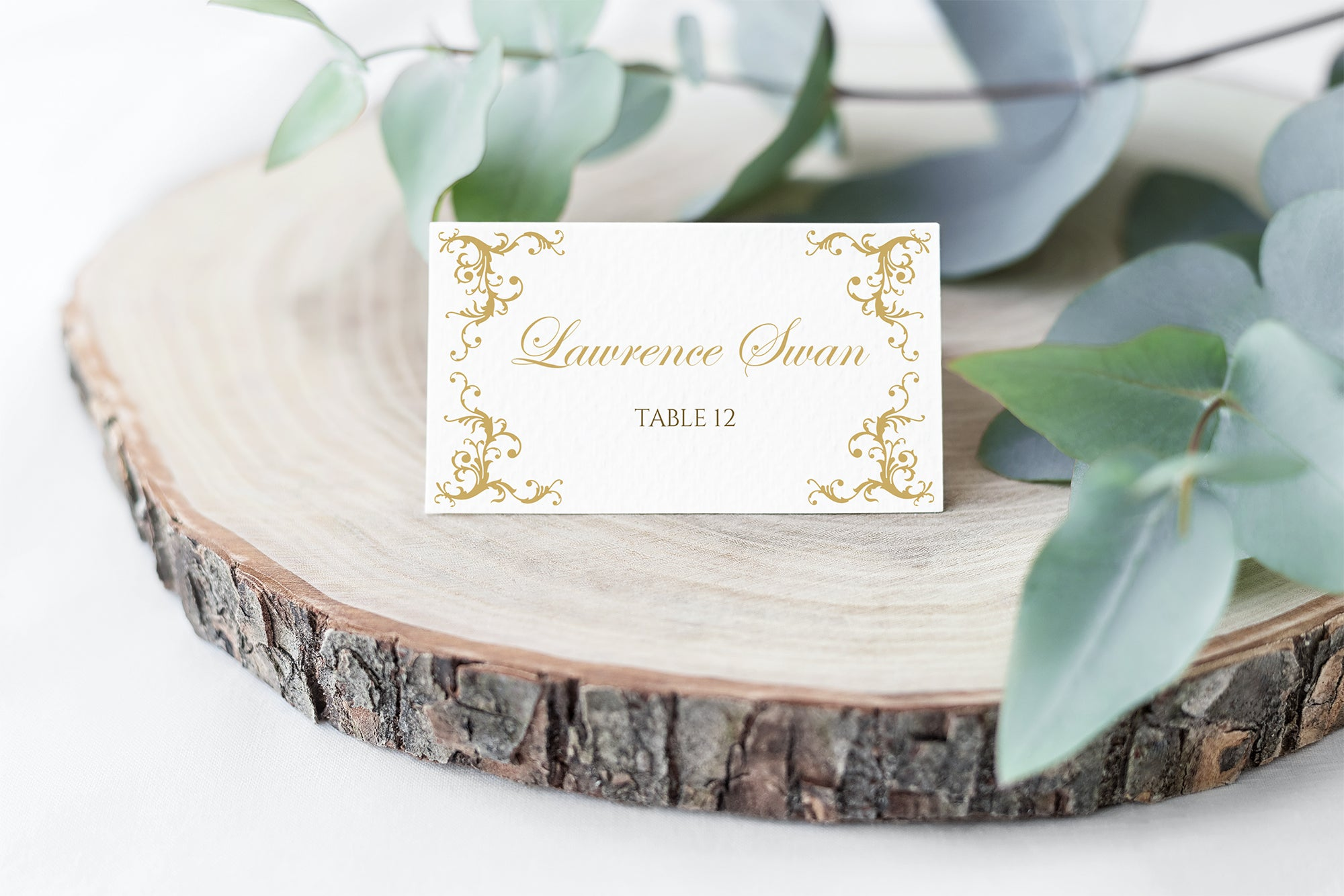Diana Place Card Template Editable Design Color Paint The Day Designs