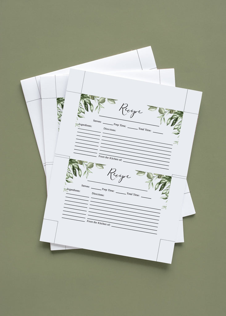 "Bridal Shower Recipe Card, Rustic Bridal Shower Gift, Wedding Recipe Card Printable, Bride to be Gift - 4"" x 6"" Card 