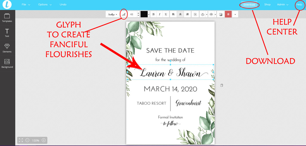 Greenery Save the Date Template