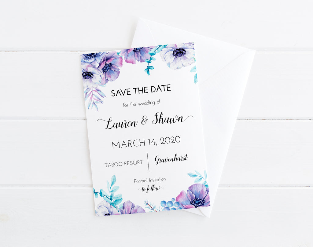 Anemone Save the Date Template