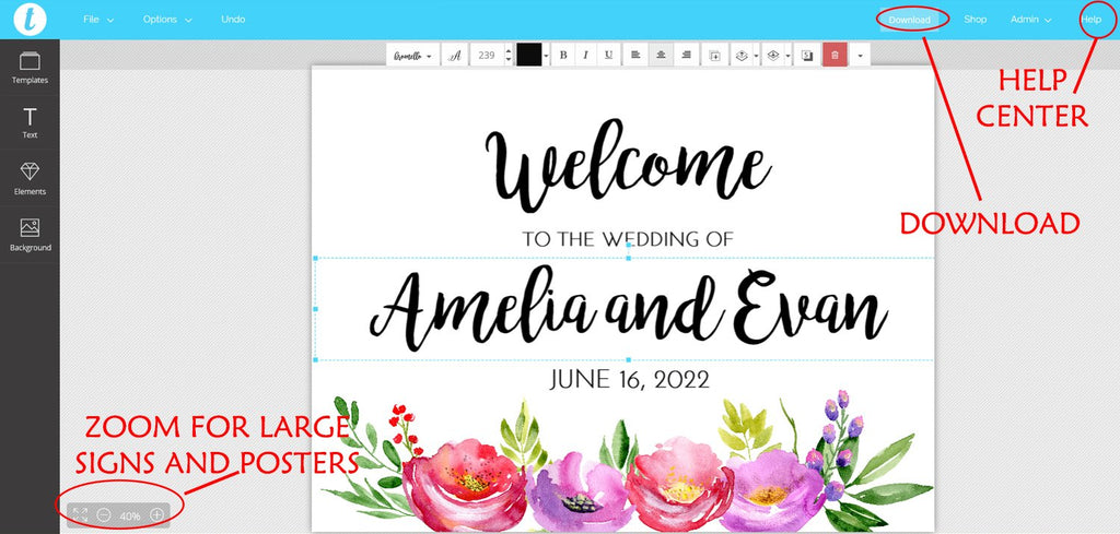 Wedding Welcome Sign Template, Wedding Sign Printable, Engagement Sign Bridal Shower, Wedding Template, DIY Edit TEXT Online