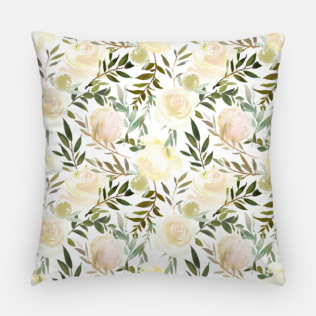 Vanilla Blossoms Throw Pillow Cover