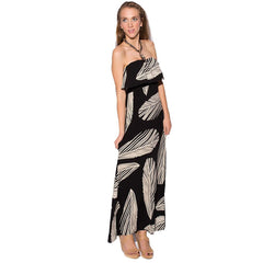 Bandeau Maxi Dress In Print - Maison du Roi - 4