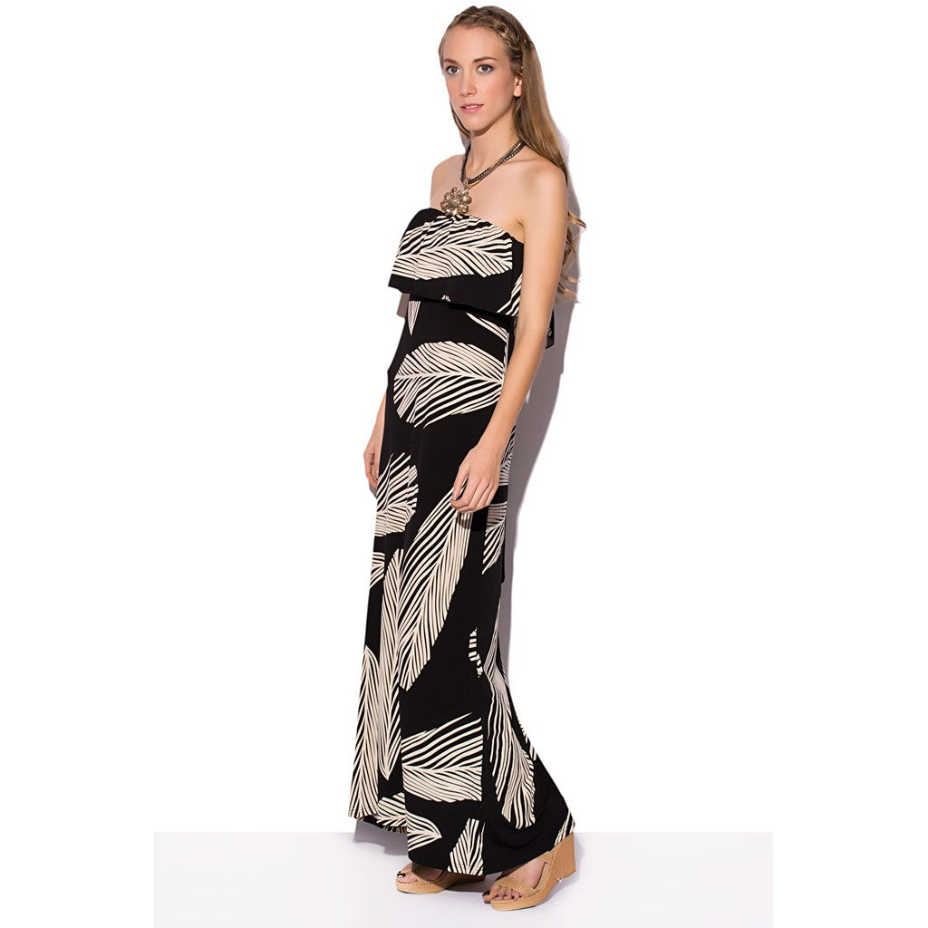 Bandeau Maxi Dress In Print - Maison du Roi - 1