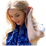 Anchor Dream Scarf - Navy - Maison du Roi - 1