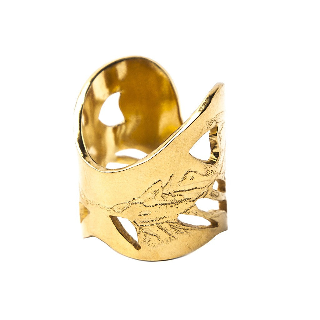 Gold Angel Wings Ring - Similar to Cartier - Maison du Roi - 1