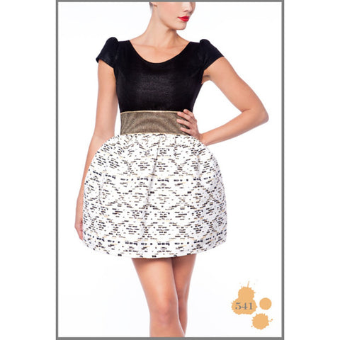 BLACK & WHITE SHORT DRESS MADNESS - Maison du Roi