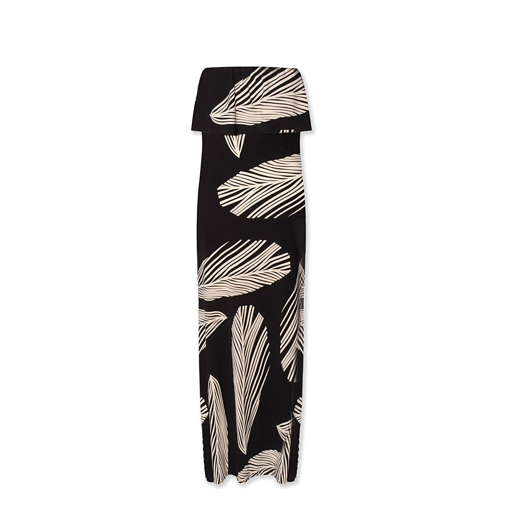 Bandeau Maxi Dress In Print - Maison du Roi - 6