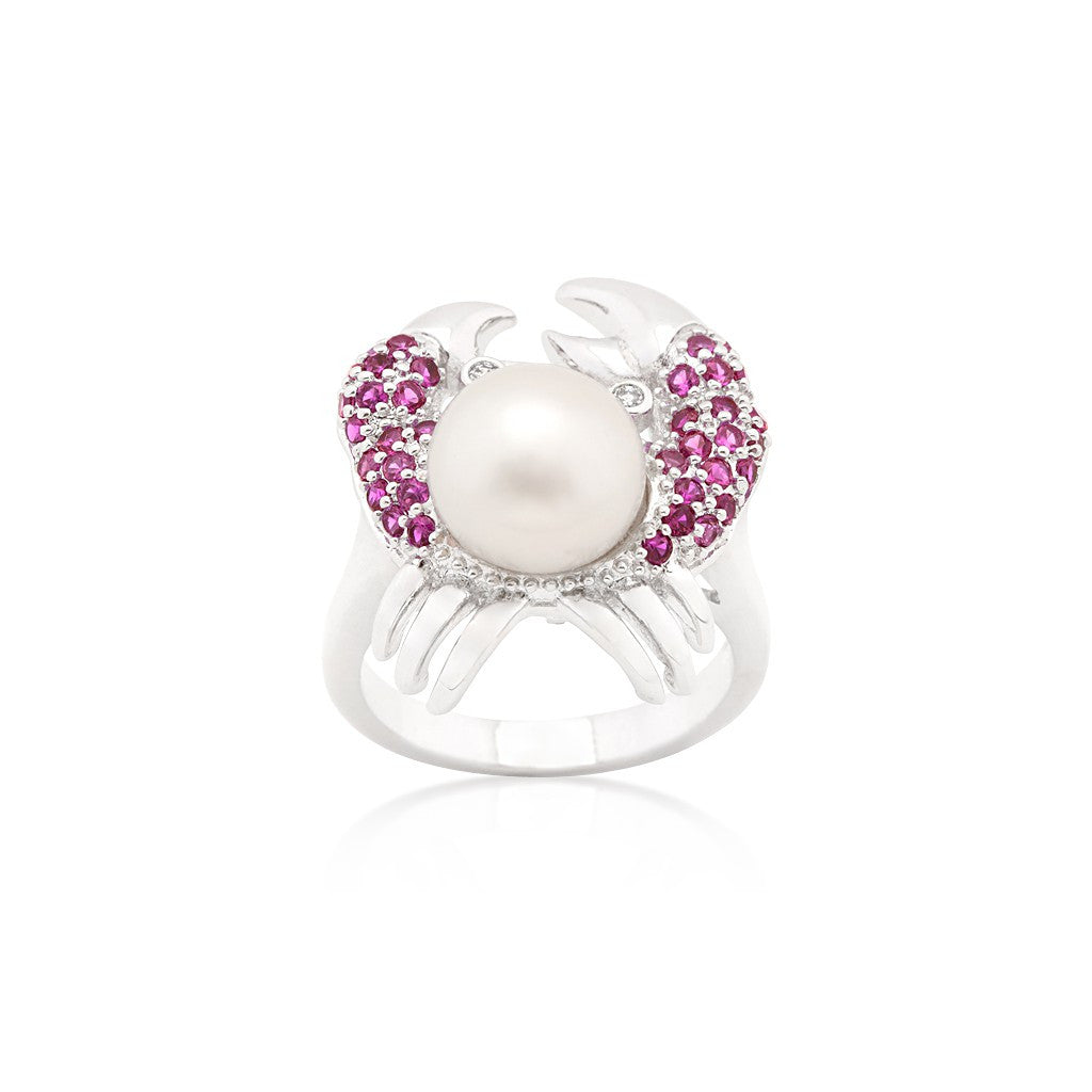 Ruby Pearl Crab Ring - Similar to Cartier - Maison du Roi - 2