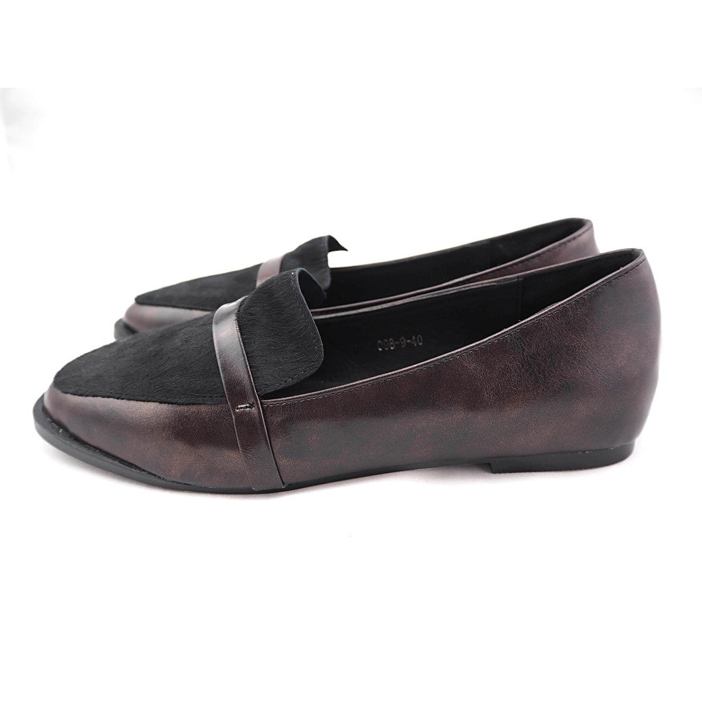 Dave genuine pony leather loafers - Maison du Roi - 4