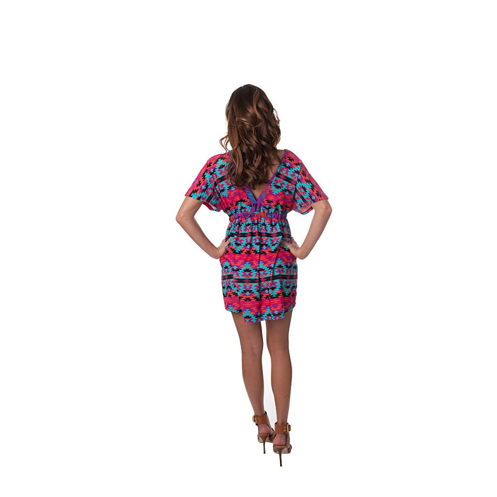 Kaleidoscope Kaylee Signature Tunic Dress - Maison du Roi - 2