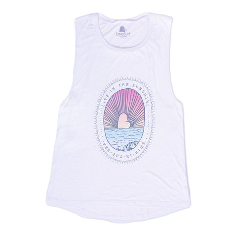 Live in the Sunshine Muscle Tank - Maison du Roi - 1