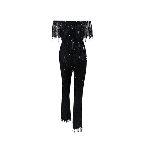 Black Sequin Jumpsuit | Best Selling Dress 2016